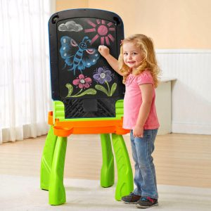 Chalkboard side of VTech DigiArt Easel