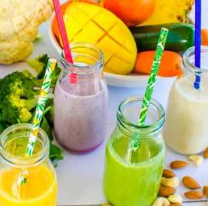 fruit and veggie smoothie