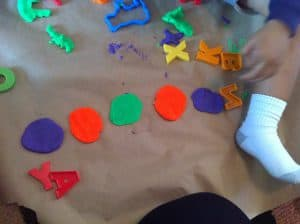 play doh circles