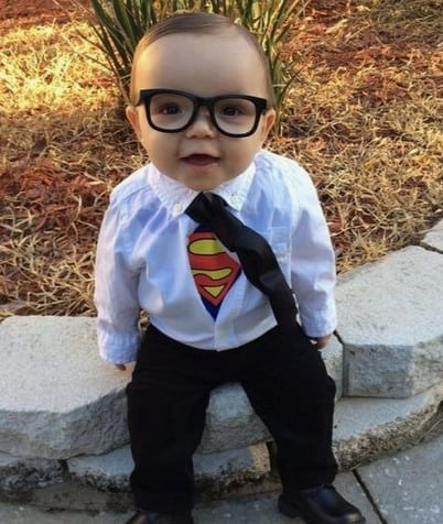 baby clark kent halloween costume