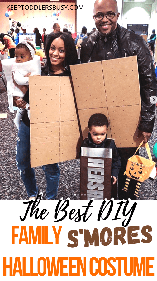 We got so many compliments on this family costume! Looking for diy family halloween costumes with kids or babies on a budget? Well look no further!
