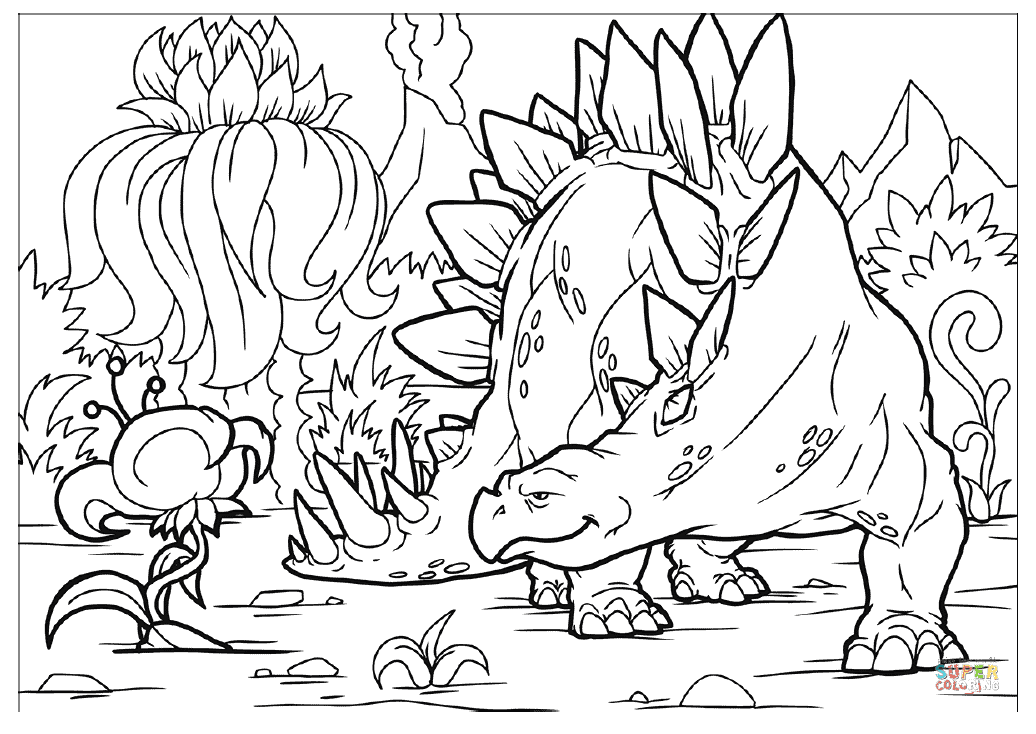 Stegosaurus coloring page | Free Printable Coloring Pages