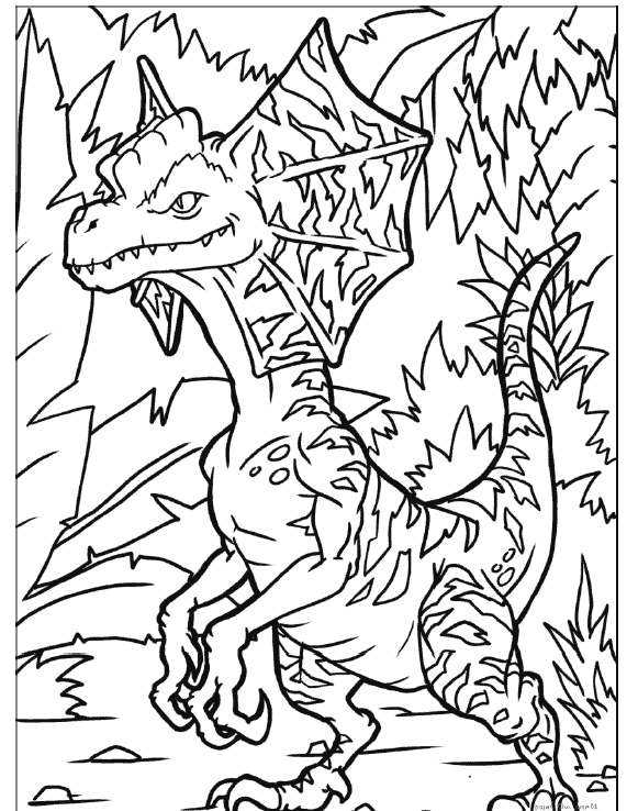 Dilophosaurus coloring page | Free Printable Coloring Pages