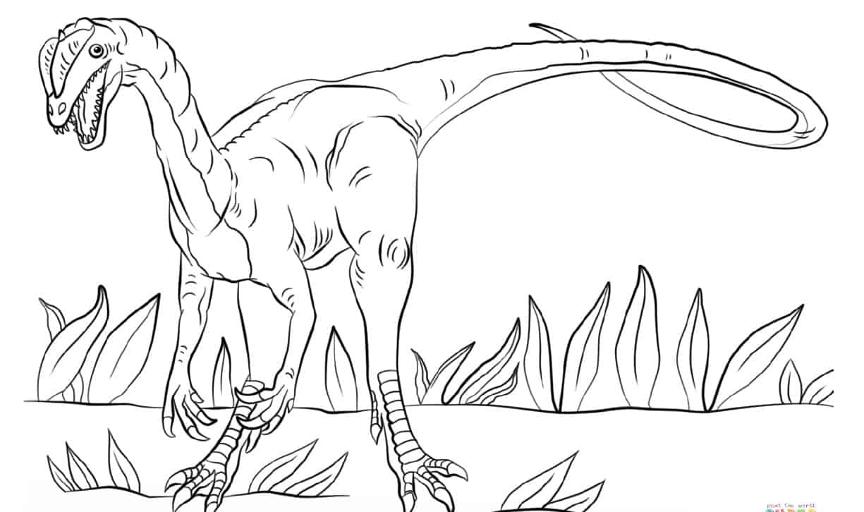 Jurassic Park Dilophosaurus coloring page | Free Printable Coloring Pages