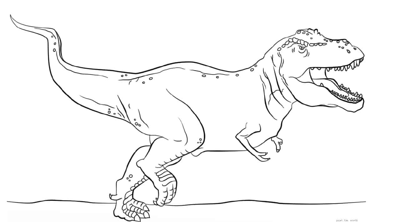 T-Rex Coloring page