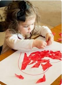 Valentines tissue craft