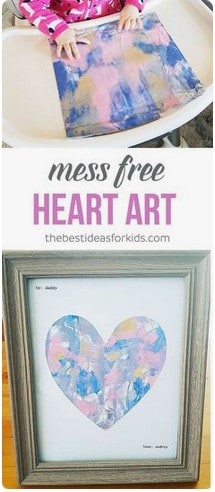 mess free heart art