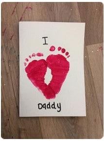 Valentine Footprint activity for preschoolers
