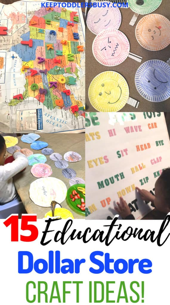 Budget moms this is for you! These educational dollar store crafts ideas will promote a fun learning environment. Dollar Tree crafts are a perfect activity