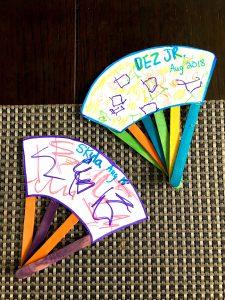 popsicle stick fans