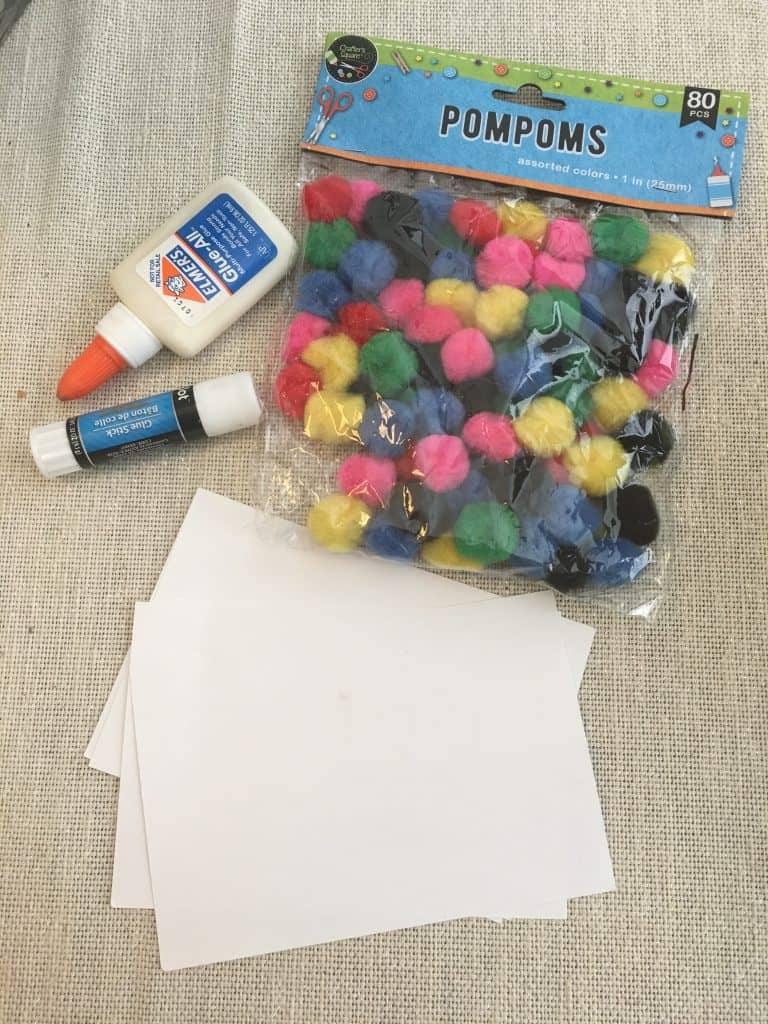 pom pom crafts supplies