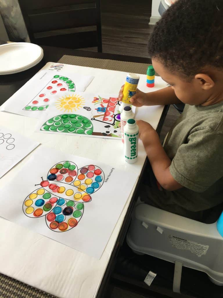 dab a dot markers for toddlers