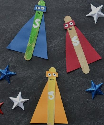 superhero popsicle sticks
