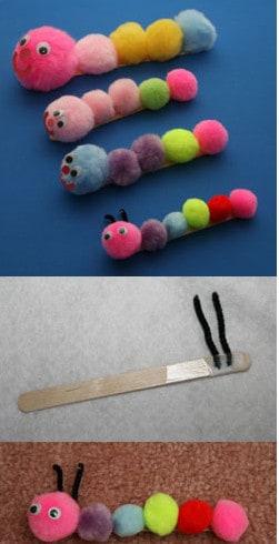 popsicle stick caterpillar