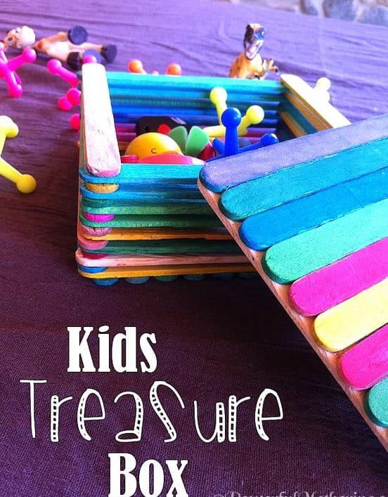 Popsicle Stick Treasure Box