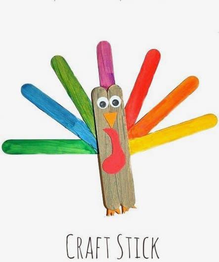 craft stick turkey