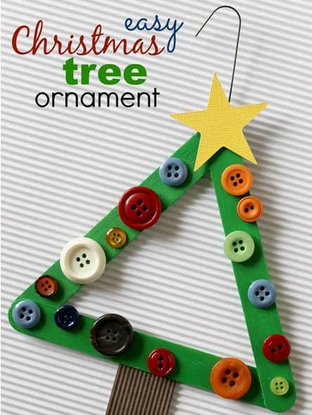 Christmas Tree popsicle stick craft