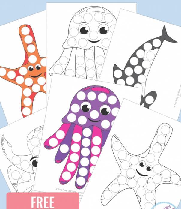 sea animal dot pages