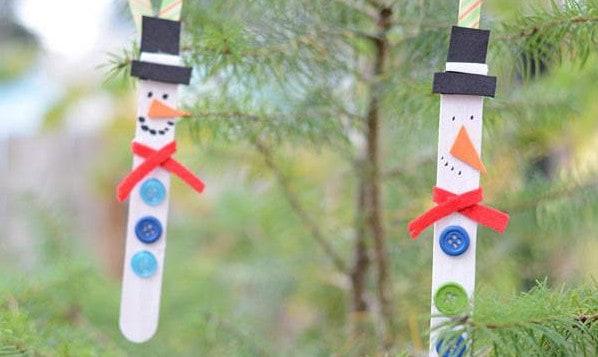 snowman ornament craft