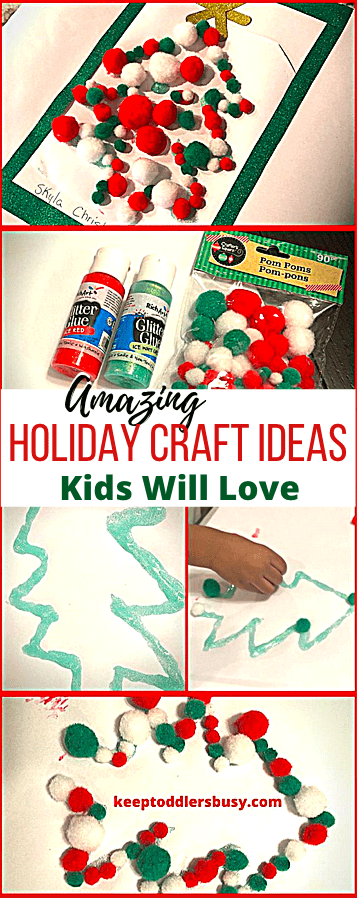 This Pinterest Edition Of Holiday Craft Ideas Kids Will Love is Great For Kids Of All Ages, Including Toddlers! They are Simple, Fun, and Festive. Take a Look!