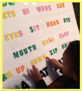 sight words board