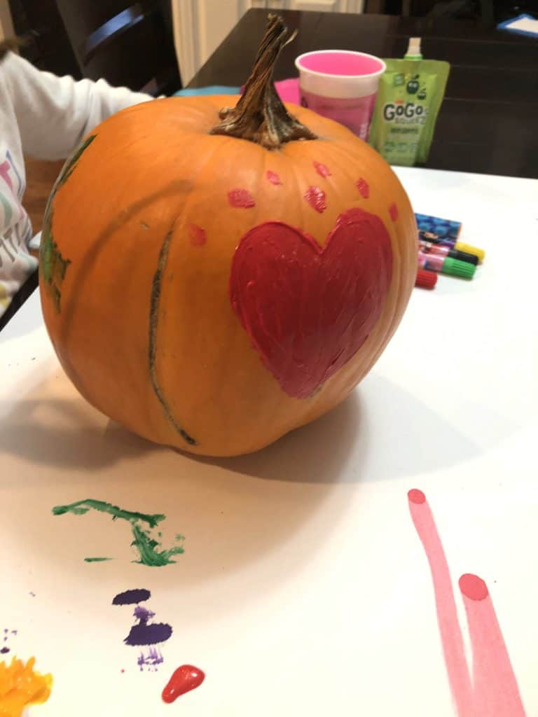 pumpkin painting craft