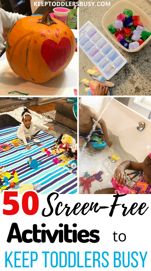 Keep Toddlers Busy with 50+ Amazing Ideas That Don't Include Staring at Screens. These kids activity Ideas are Also Easy And Won't Break The Bank. Check Them Out!