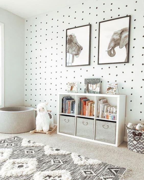 playroom storage cue sheves