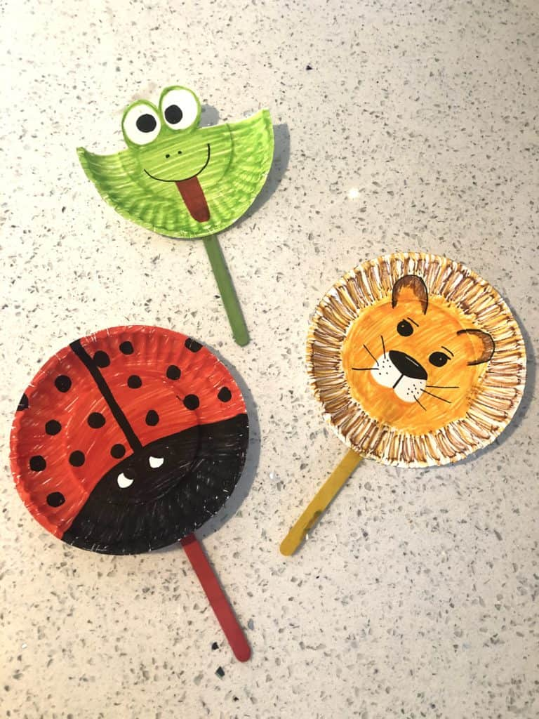Paper Plate Animal Puppets