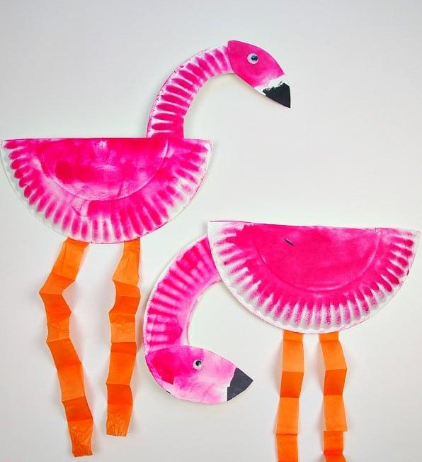 Paper Plate Flamingo