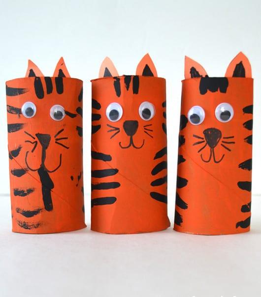 Cardboard Tube Tiger