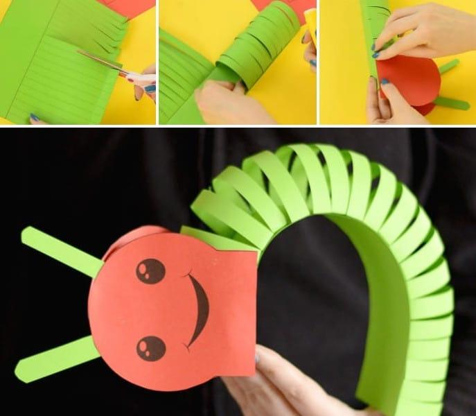 Paper Caterpillar Craft