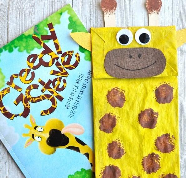 Paper Bag Giraffe Puppet