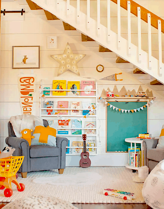 This amazing playroom bookshelf or toy shelf look is amazing! Perfect storage for the kids. Mommy Experts Share 50 Playroom Storage Ideas That Will Turn Your Child's Messy Play Space Into An Organized and Safe Play Haven For Kids. Small Playrooms Too.