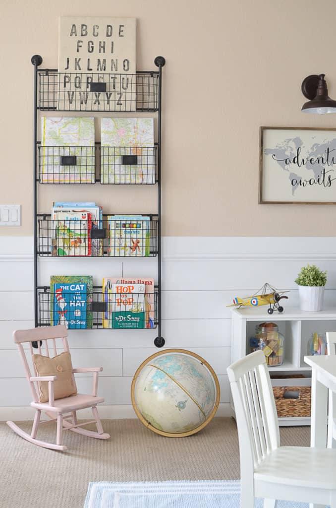 magazine book rack