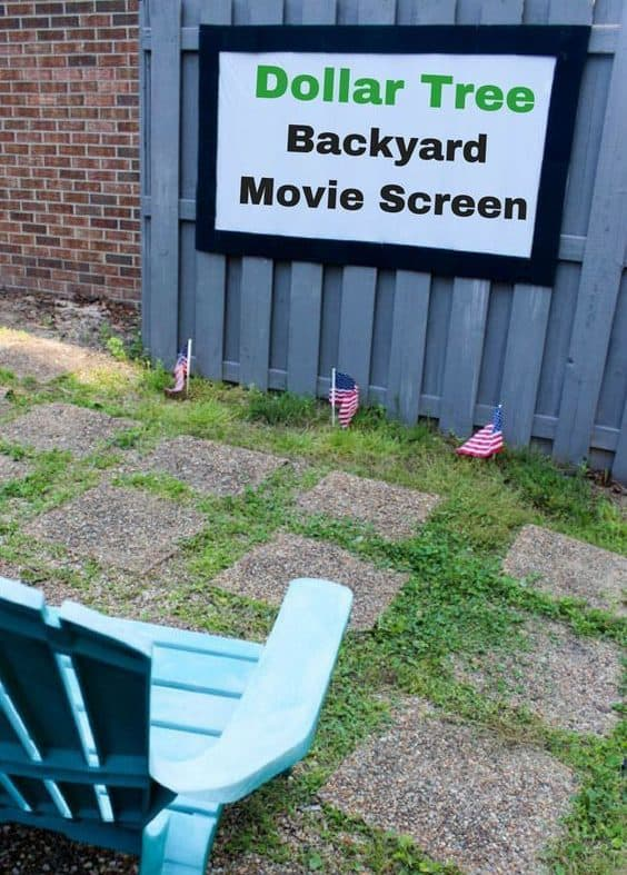 cheap diy Backyard Movie screen