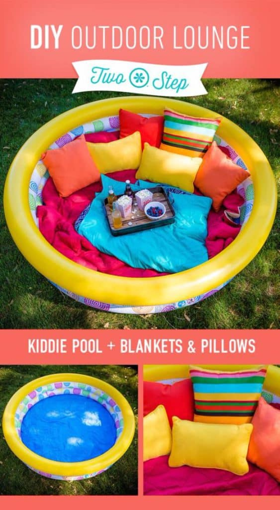 kid friendly backyard ideas on a budget, outdoor lounge for kids. outdoor theater