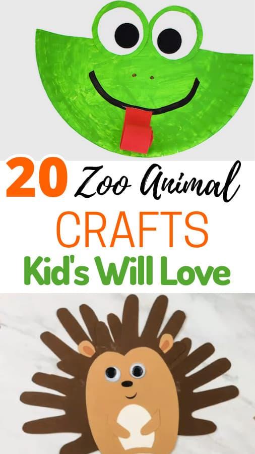 Zoo Animal Crafts Preschoolers