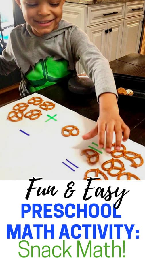 This preschool math activity must be added to your routine of preschool activities! Learning activities are a must at this age and this one is super fun and yummy!