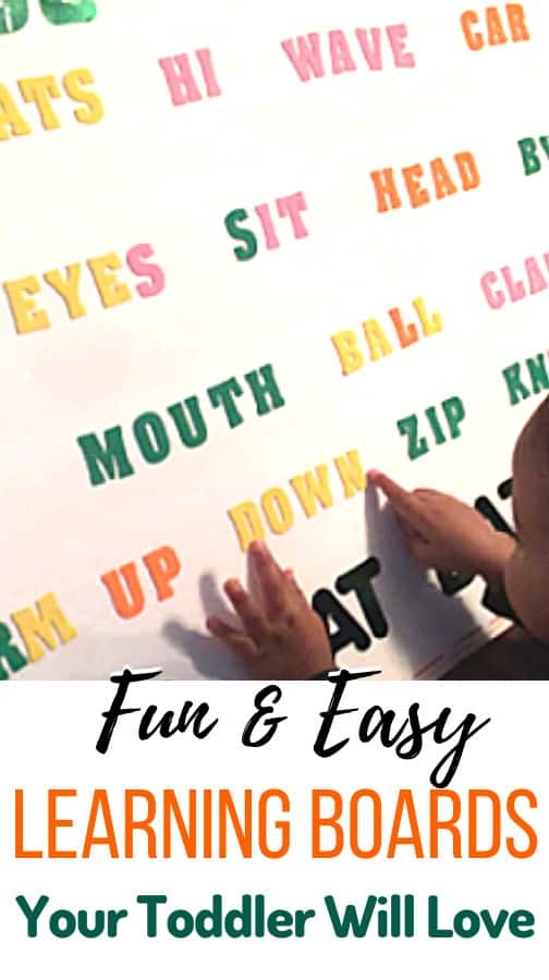 Learning Boards for Toddlers Teaching is a great way to teach kids to read. Take a look at these toddler activities for two year olds and three year olds for inspiration!