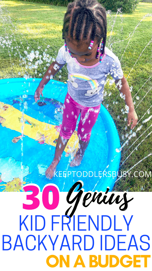 Looking For Kid Friendly Backyard Ideas On a Budget? Well look No Further And Check Out These Genius Backyard Ideas To Create A Wonderful Kid Friendly Oasis!