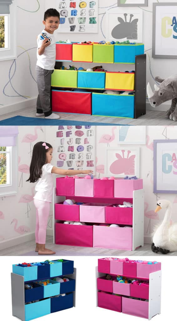 Is this toy organizer cute or what? And also easy on the pockets. This is great storage for a kid's bedroom and great for playroom ideas too.