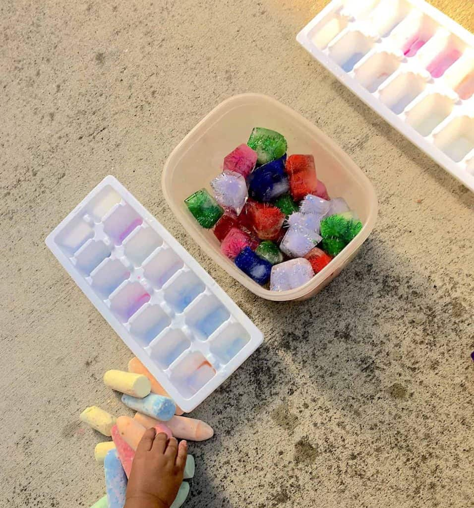 preschool pom pom activity