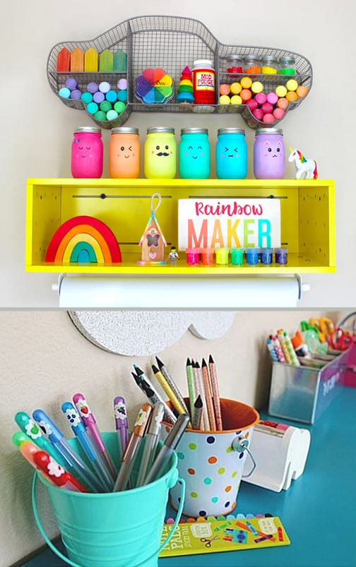 Mommy Experts Share 50 Playroom Ideas That Will Turn Your Child's Messy Play Space Into An Organized and Safe Play Haven For Kids. Small Playroom designs and, playroom storage ideas, too. Playroom Organization is key!