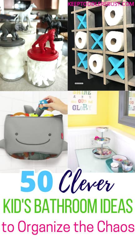 This Compilation of Amazing Kid's Bathroom Ideas Will Have You Wishing you Saw This Earlier! Bring Beautiful Organization To Your Kid's or Toddler's Bathroom! Kids bathroom decor ideas or shar