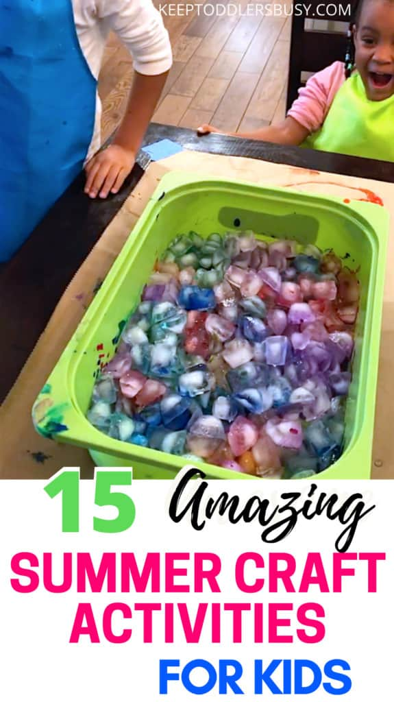 Check Out These Awesome List Of Summer Craft Activities For Kids From The Top Activity Mom Bloggers! Check Out The Fun And Then Set Up Your Toddler's Paint Activity with an awesome toddler craft