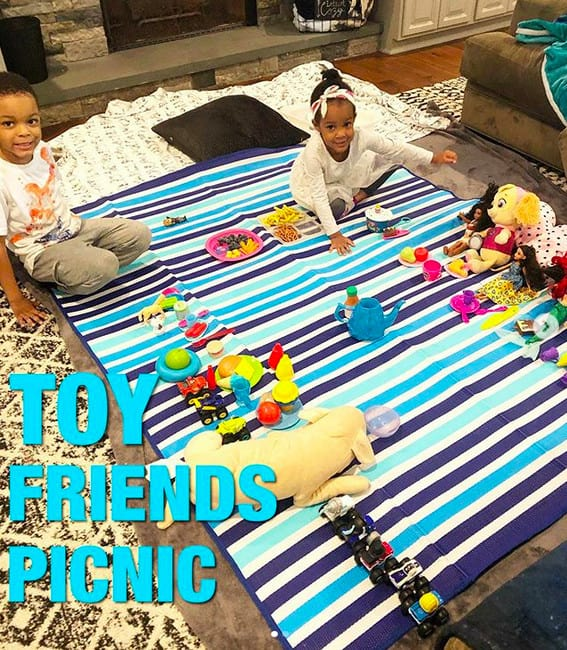 keep toddlers busy with a picnic