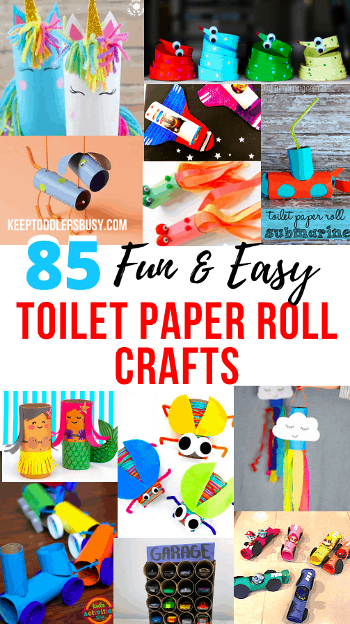 Get Creative With This Amazing Compilation Of Easy Toilet Paper Roll Crafts For Kids That Will Absolutely Be a Hit! Kid's Activity Moms Share Toilet Paper Roll Crafts For Toddlers and Preschoolers