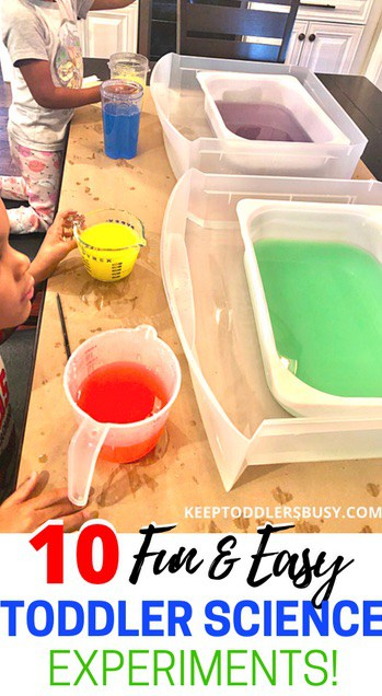 Easy Toddler Science Experiments