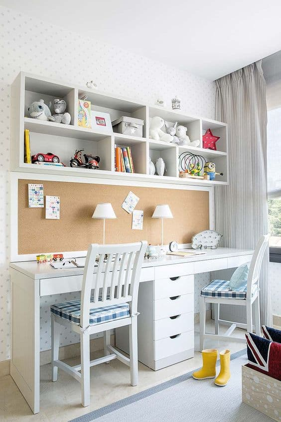 Mommy Experts Share 40 Homeschool Room Ideas That Will Turn Your Child's Space Into An Organized Learning Area For Kids In Small Spaces Too. Get Great Ideas For Home School Desks, Tables, and Storage